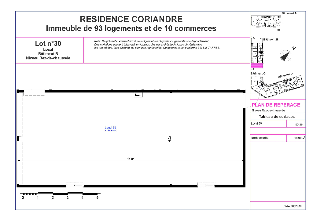 vente local-commercial ST ANDRE